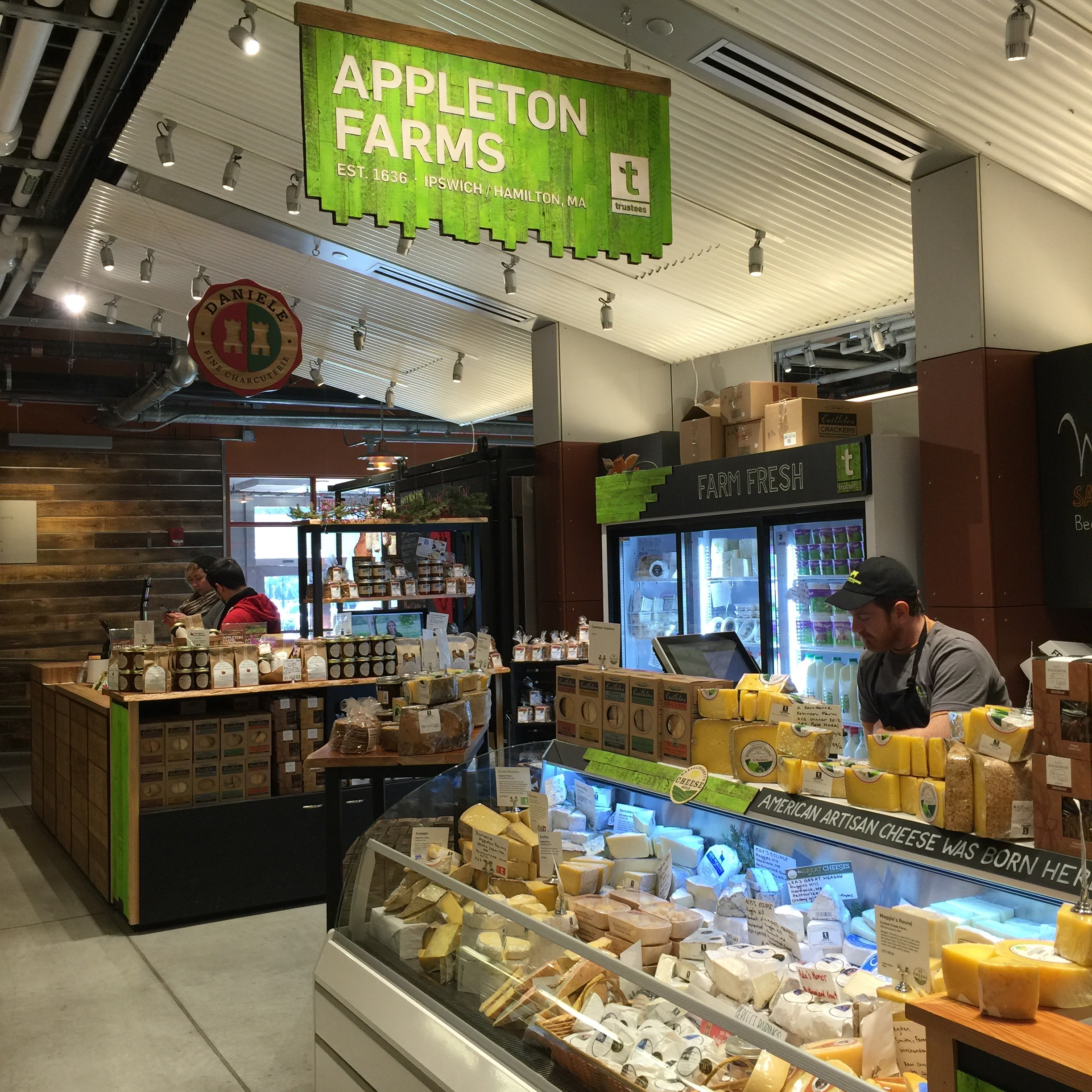 Appleton Farms sells a terrific variety of local cheeses