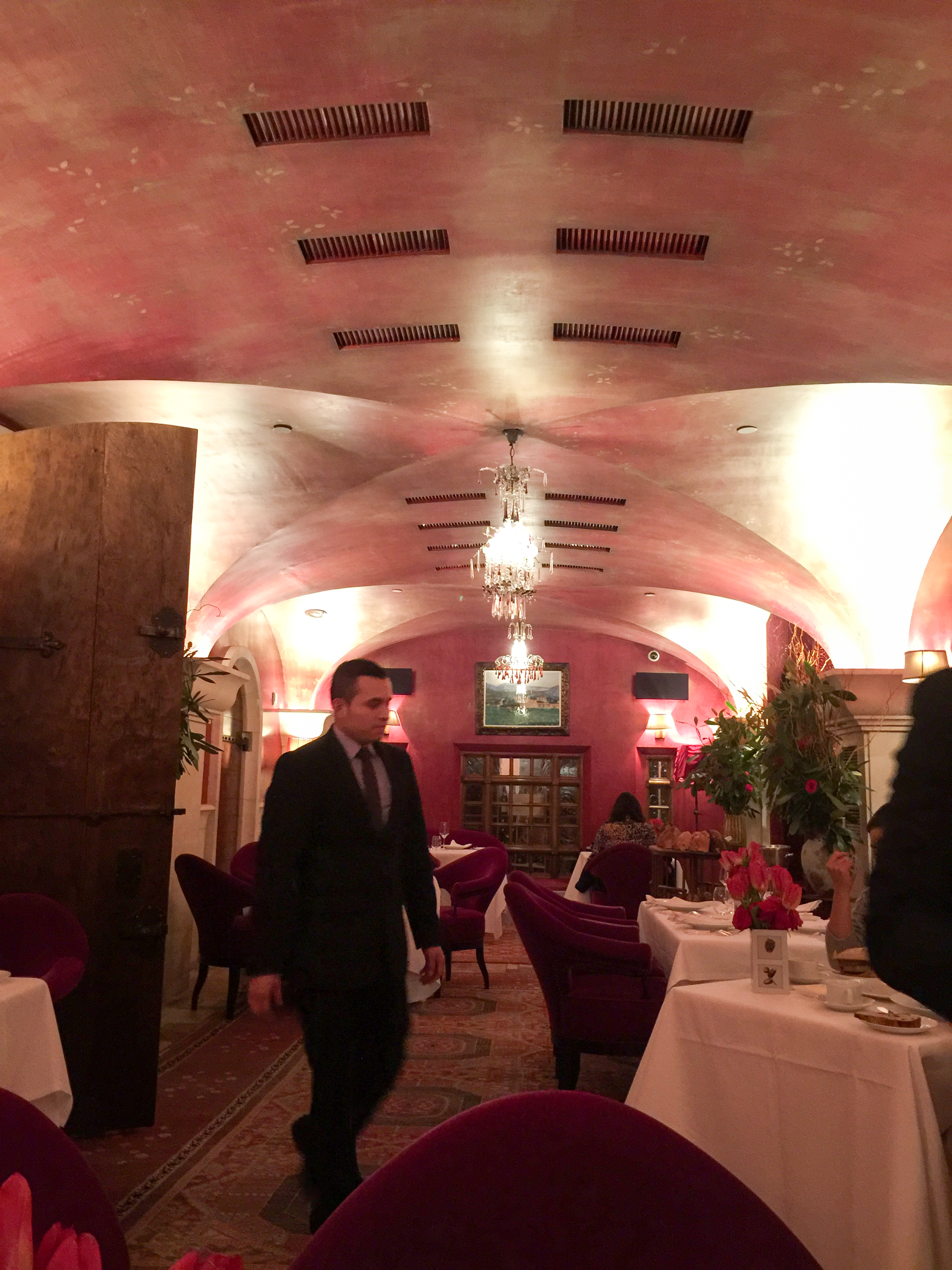 Downstairs dining room at Bouley